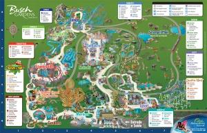Esse é o mapa do Busch Gardens!